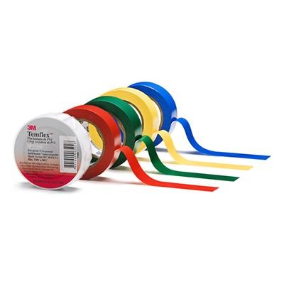 #3M7100147925 - Temflex 1300e (18mm*9.15m) BEYAZ PVC İZOLE ELEKTRİK BANDI 3M