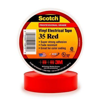 #3M80611211568 - Scotch 35 (19mmX20m) KIRMIZI PVC ELEK. İZOLASYON BANDI 3M