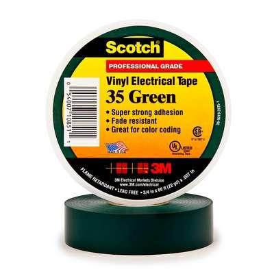 #3M80611211576 - Scotch 35 (19mmX20m) YEŞİL PVC ELEK. İZOLASYON BANDI 3M