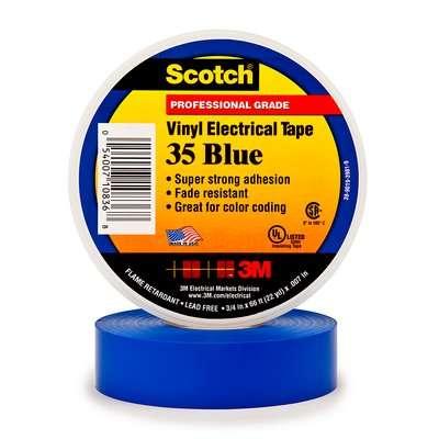 #3M80611211584 - Scotch 35 (19mmX20m) MAVİ  PVC ELEK. İZOLASYON BANDI 3M