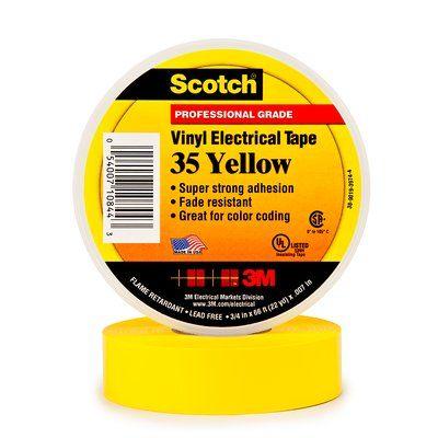 #3M80611211592 - Scotch 35 (19mmX20m) SARI PVC ELEK. İZOLASYON BANDI 3M