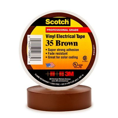 Scotch 35 (19mmX20m) KAHVERENGİ PVC ELEK. İZOLASYON BANDI 3M