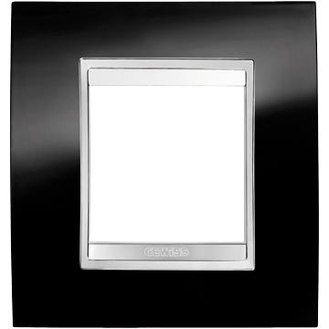 #GW16227TN - CHORUS LUX INT PLATE, 2+2+2G V TONER BLACK GEWİSS