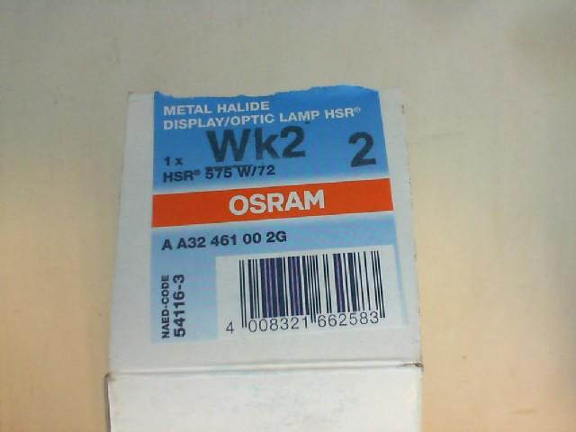 #O54116 - 575W 95V GX9.5 HSR/72 10X1 OSRAM 54116