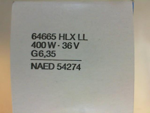 #O64665 - 400W 36V G6.35 KAPSÜL HLX 40X1 LL OSRAM 64665