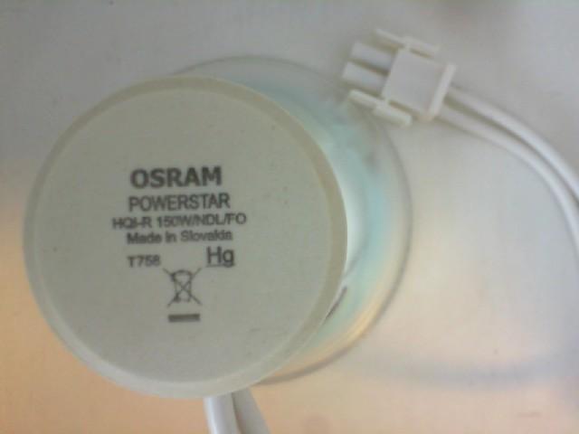 #OHQIR150WNDLFO - 150W 14V HQIR W NDL 4200K FO OSRAM