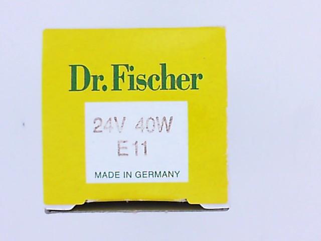 40W 24V E11 (SİYAH KORUMA KILIFLI) DR. FISCHER 847018