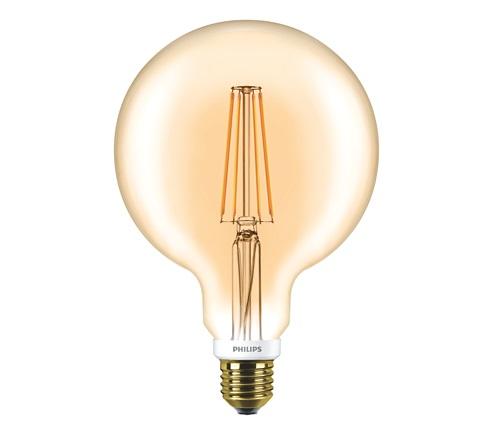 #P929001229102 - 7-50W 220V E27 820 G120 GOLD FLAMAN CLA LED GLOP PHILIPS