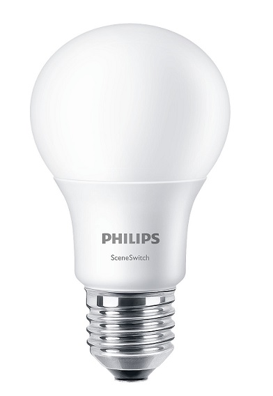 9.5-60W 220V E27 827/840 806lm A60 SceneSwitch LED AMPUL PHILIPS