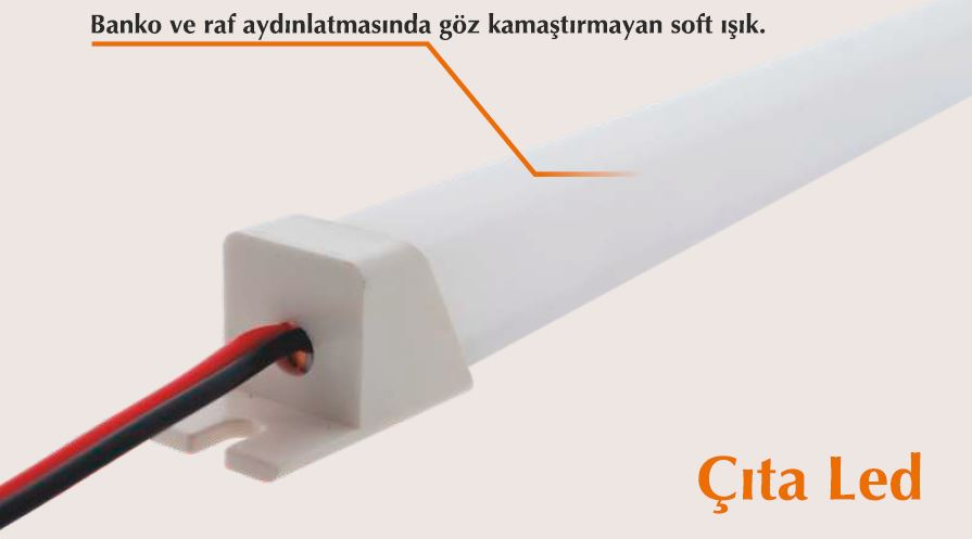 11*11mm 120cm 3000K ÇITA LED ŞAVK