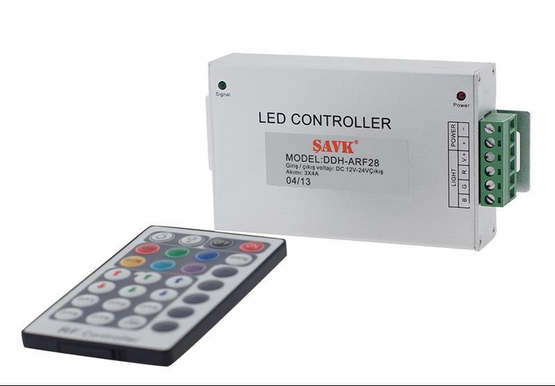 #Ş300010 - RGB CONTROLER 12V 3*4 A 28 TUŞ KUMANDALI ŞAVK