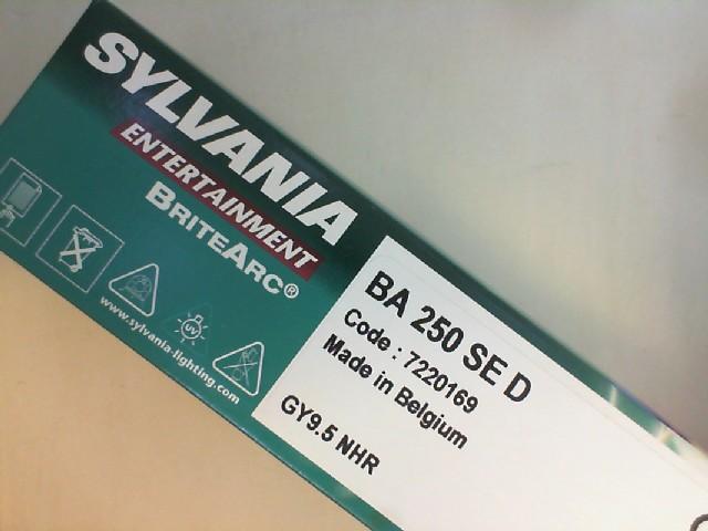 250W BA SE D GY9.5 7220169 SYLVANIA