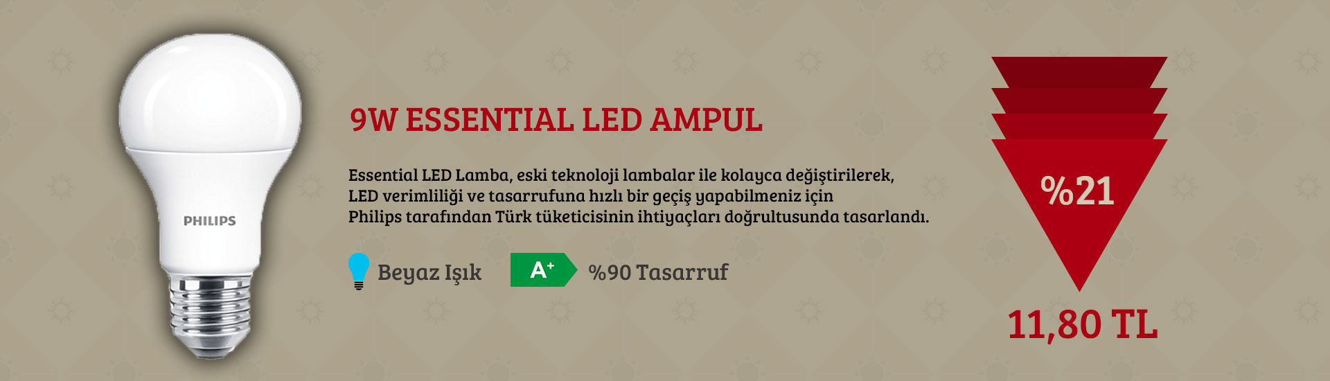 Philips 9W Led Essentials Ampul